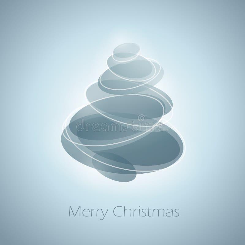 Abstracte glanzende Kerstmisboom. royalty-vrije illustratie