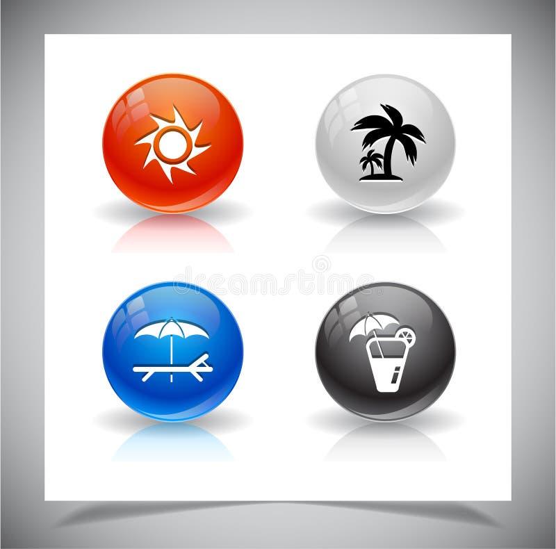 Download Abstracte Glasballen. EPS10 Dossier. Vector Illustratie - Illustratie bestaande uit modern, blauw: 39106824