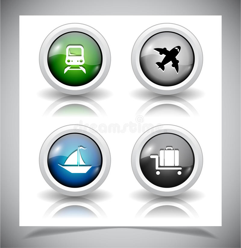 Download Abstracte Glasknopen. EPS10 Dossier. Vector Illustratie - Illustratie bestaande uit luchthaven, cirkel: 39106856