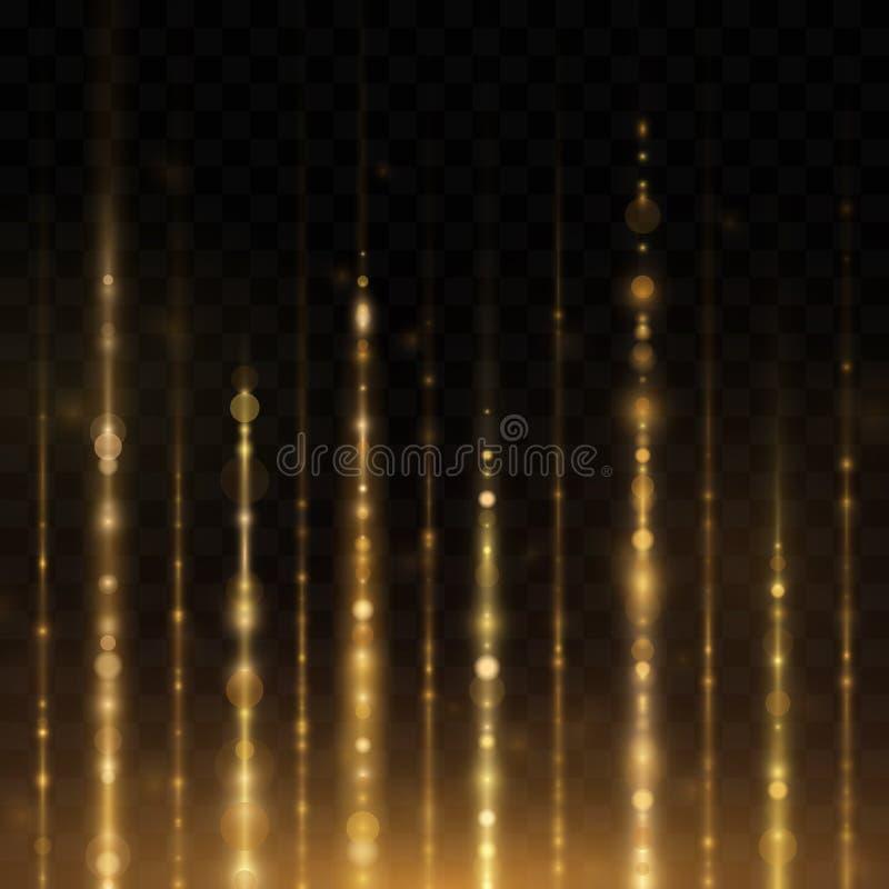 Abstracte gloed lichte lijnen vector illustratie