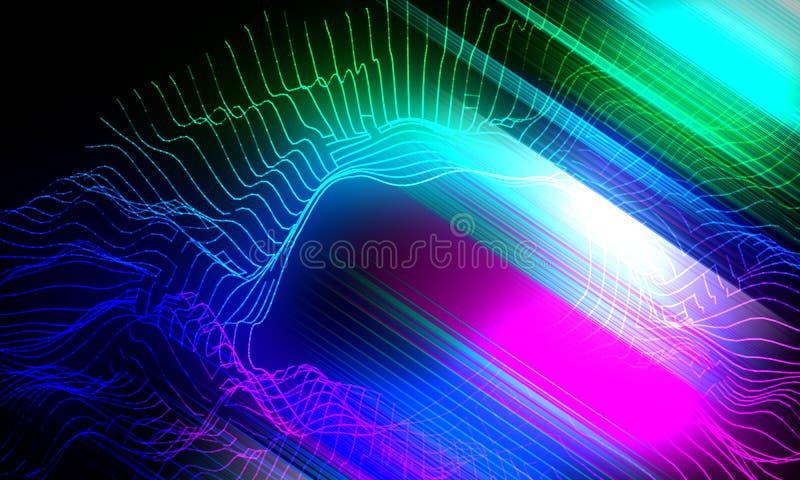 Abstracte gloedachtergrond met gradiënt veelhoekige net en lijnen royalty-vrije stock foto