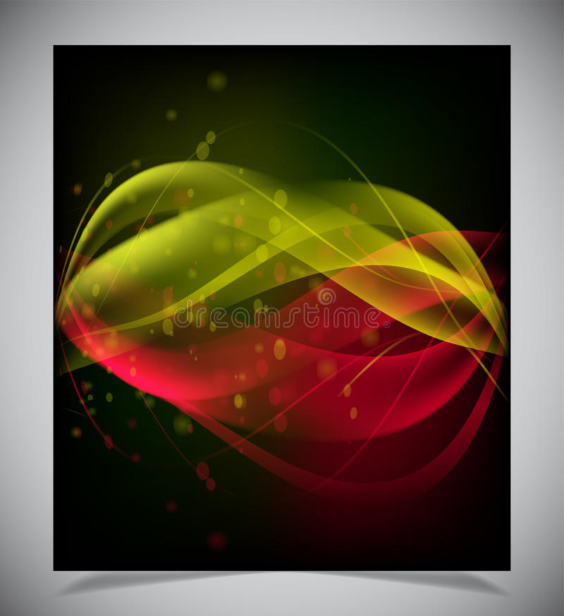 Download Abstracte Gloeiende Achtergrond Vector Illustratie - Illustratie bestaande uit blur, zwart: 39106895