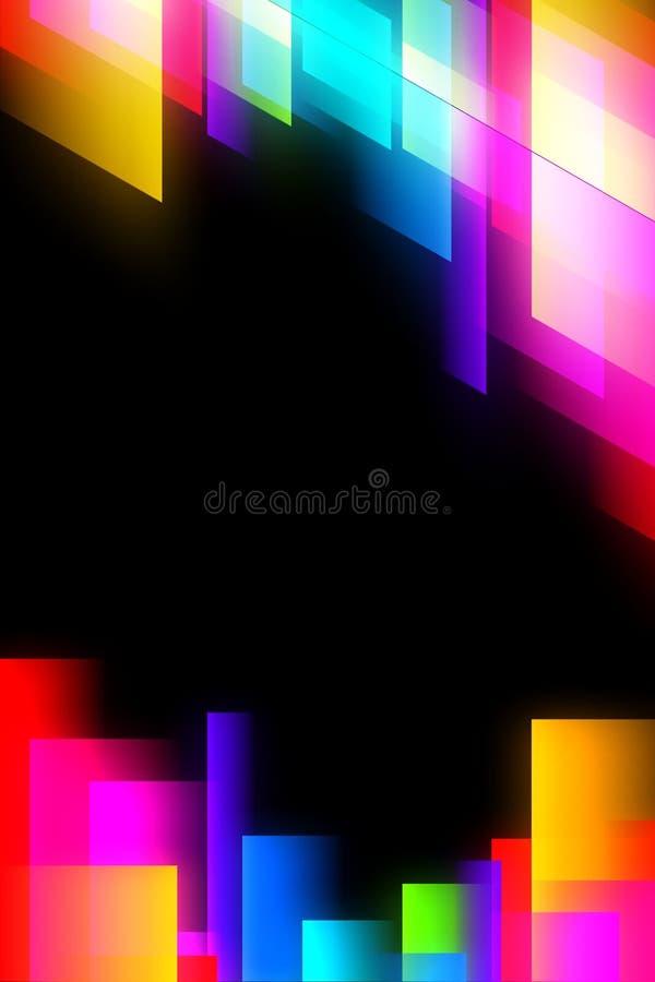 Abstracte gloeiende achtergrond vector illustratie