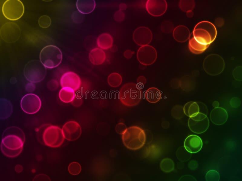 Abstracte gloeiende cirkel vector illustratie
