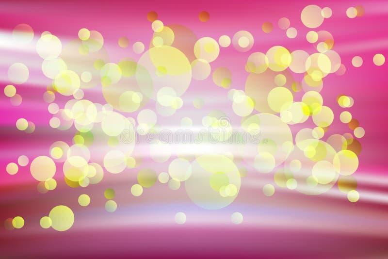 Abstracte gloeiende gele punt stock illustratie