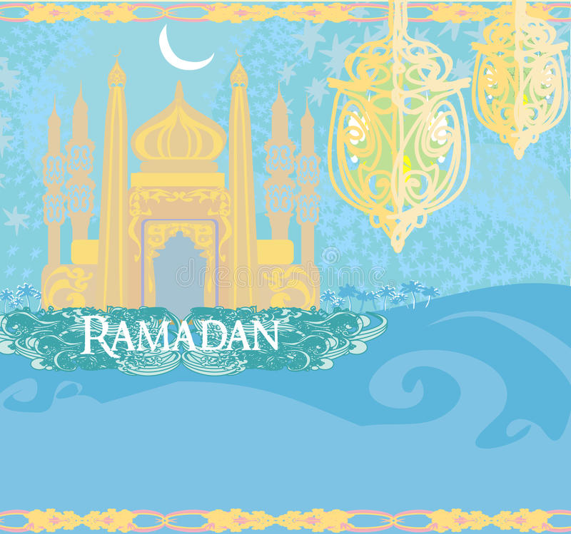 Abstracte godsdienstige achtergrond - Ramadan Kareem stock illustratie