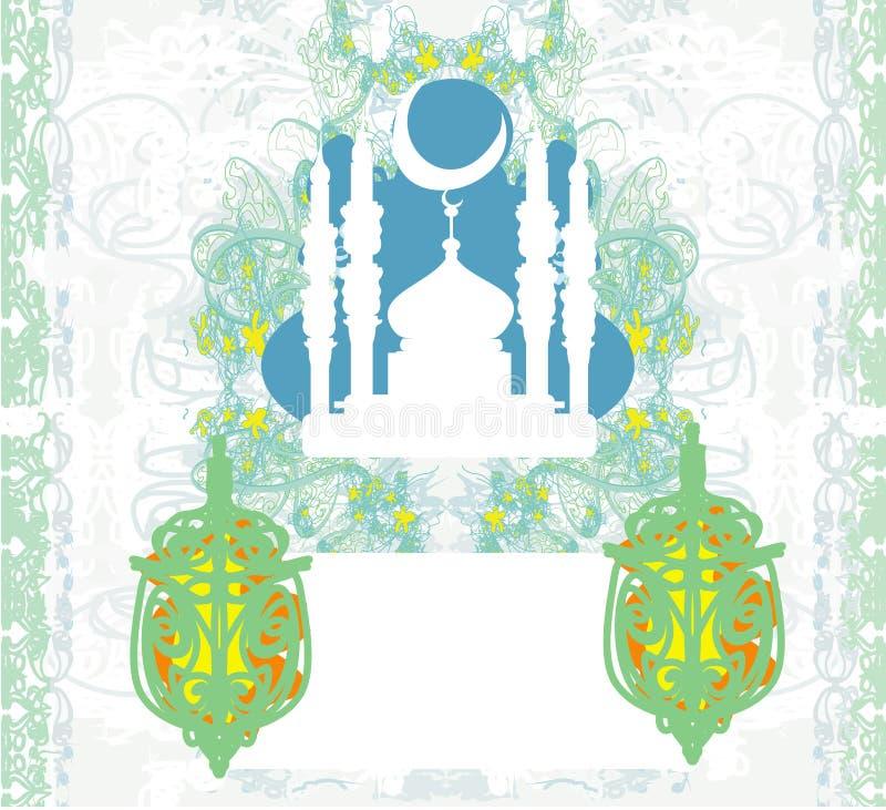 Abstracte godsdienstige achtergrond - Ramadan Kareem Design royalty-vrije illustratie