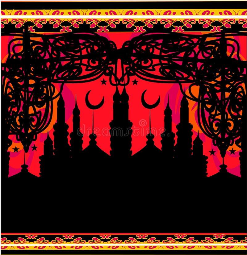 Abstracte godsdienstige achtergrond - Ramadan Kareem-Ontwerp stock illustratie