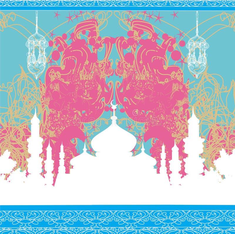 Abstracte godsdienstige achtergrond - Ramadan Kareem-Ontwerp royalty-vrije illustratie