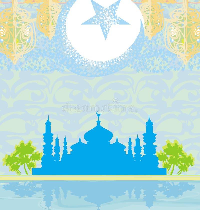 Abstracte godsdienstige achtergrond - Ramadan Kareem Vector Design vector illustratie