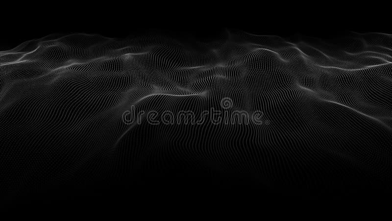 Abstracte golf van vele punten Futuristische Achtergrond Vector illustratie vector illustratie