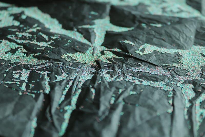 Abstracte golf van vloeibare micro- parels stock afbeelding