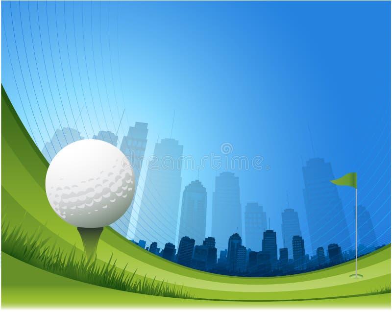 Abstracte golfachtergrond royalty-vrije illustratie