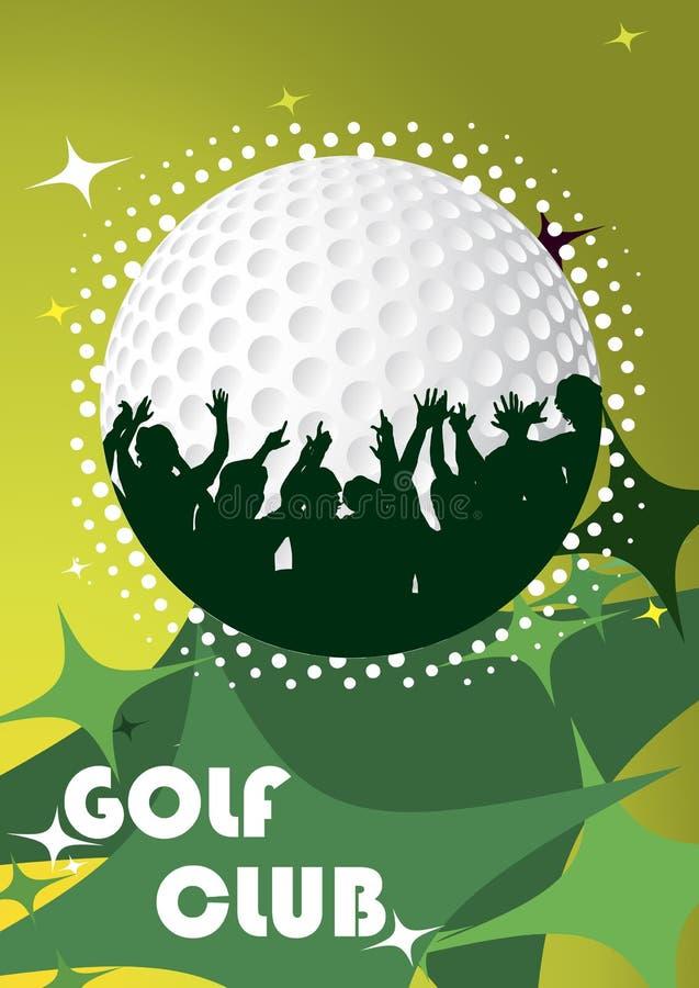 Abstracte golfaffiche vector illustratie