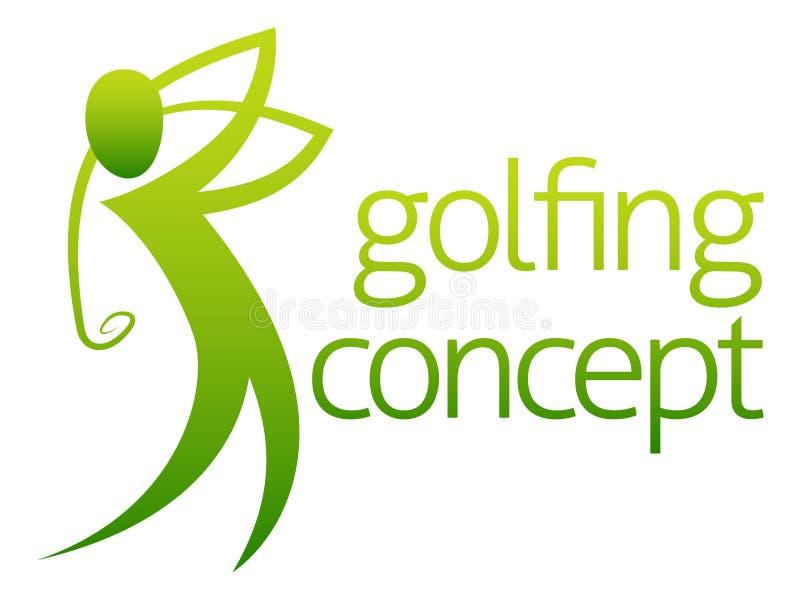 Abstracte golfspeler royalty-vrije illustratie