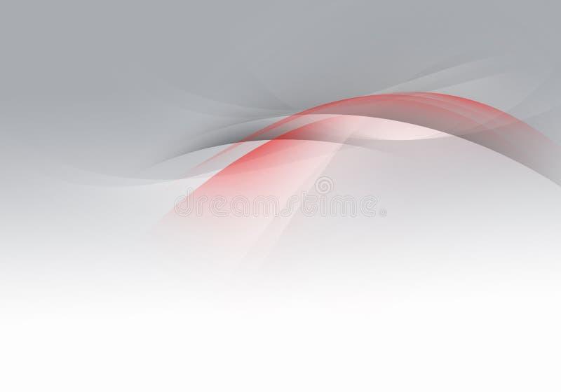Abstracte golven als achtergrond Witte, grijze en rode abstracte achtergrond royalty-vrije stock afbeelding
