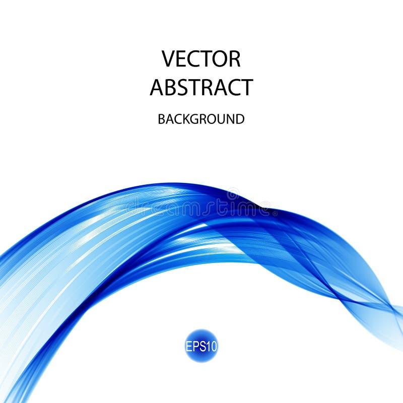 Abstracte golvenachtergrond in blauwe die kleur, op wit wordt geïsoleerd Eps 10 stock illustratie