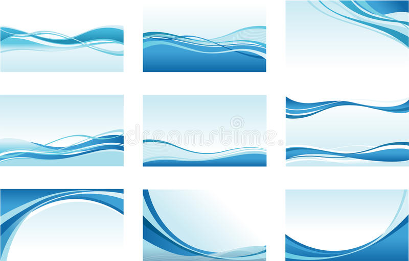 Abstracte golvenachtergronden royalty-vrije illustratie
