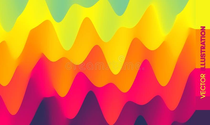 Abstracte golvende achtergrond met dynamisch effect Vector illustratie Kan voor reclame, marketing, presentatie worden gebruikt royalty-vrije illustratie