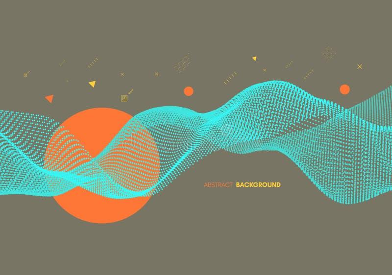 Abstracte golvende achtergrond voor banner, vlieger, boekdekking, affiche Dynamisch effect Vector illustratie vector illustratie
