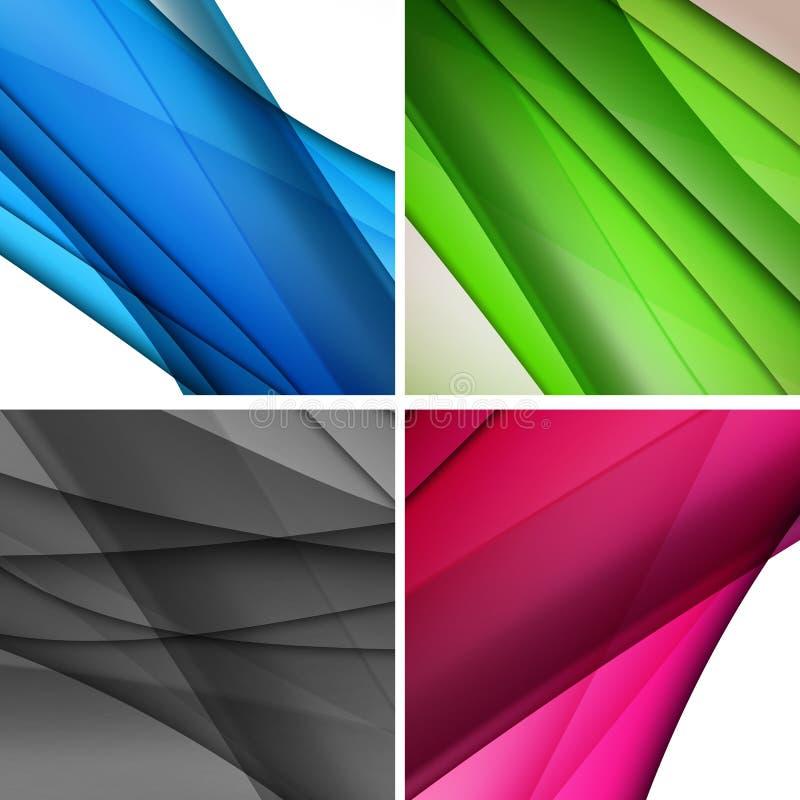 Abstracte golvende illustratie als achtergrond vector illustratie