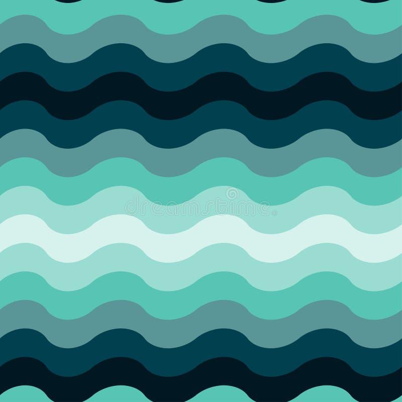 Abstracte golvende oceaan naadloze patroonachtergrond stock illustratie