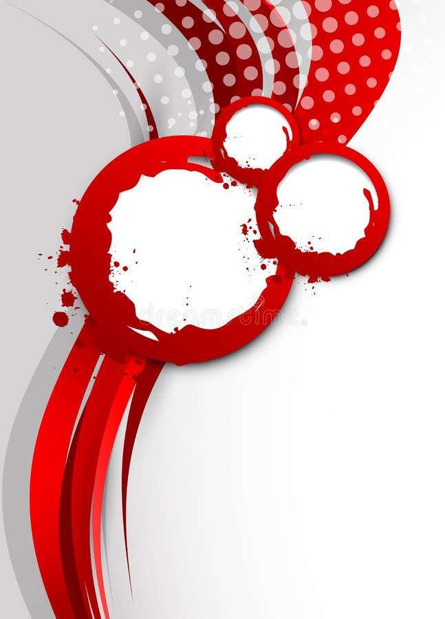 Abstracte golvende rode achtergrond stock illustratie