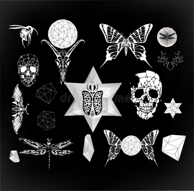 Abstracte gotisch stock illustratie