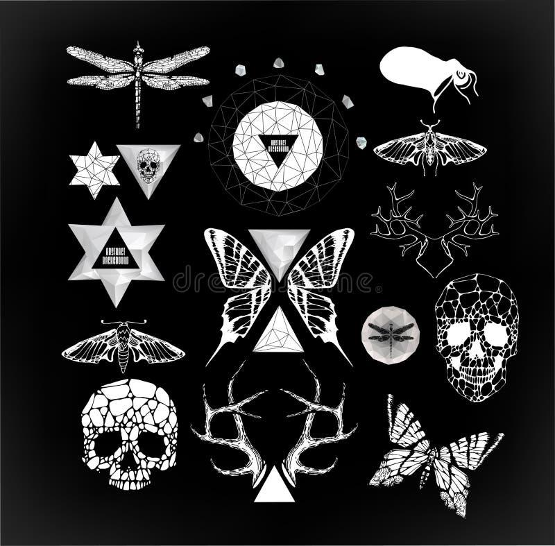 Abstracte gotisch royalty-vrije illustratie