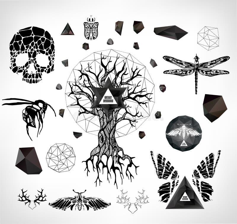 Abstracte gotisch vector illustratie