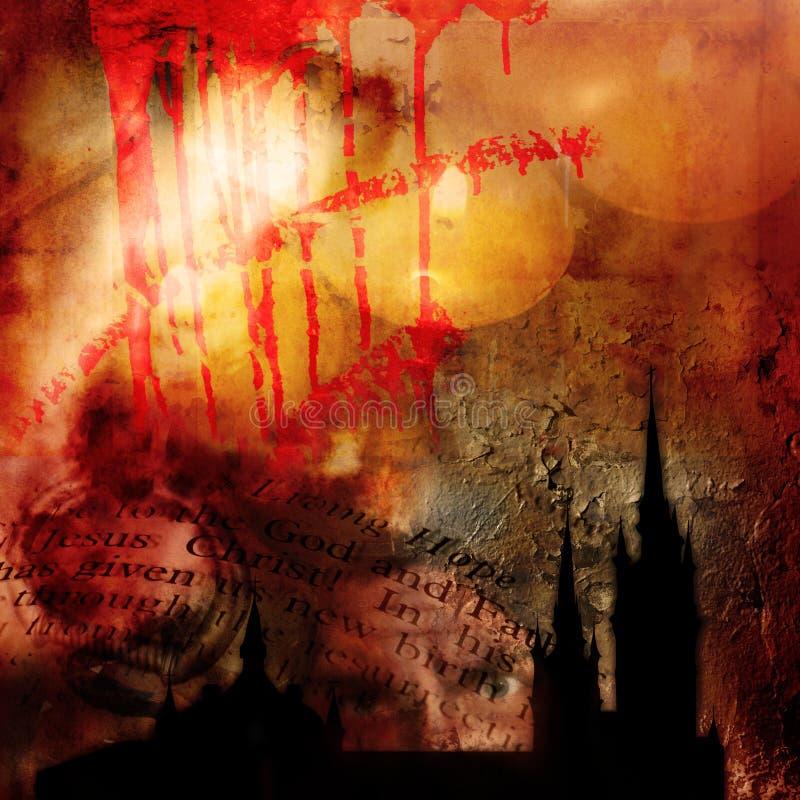 Abstracte gotische achtergrond royalty-vrije illustratie