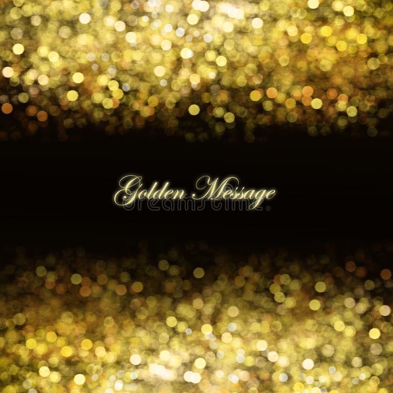 Abstracte gouden achtergrond stock afbeelding