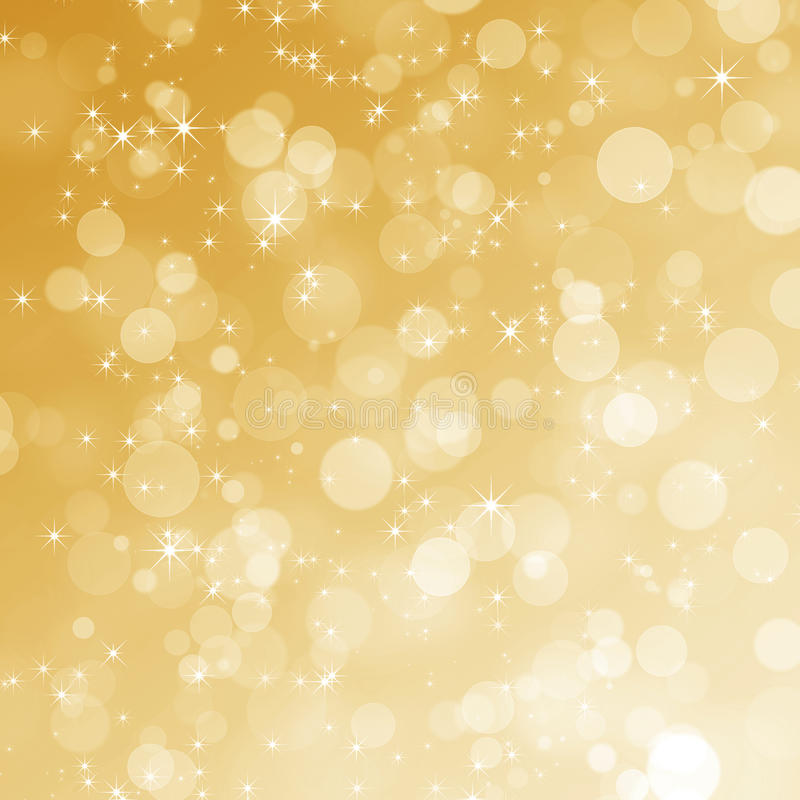 Abstracte gouden bokehachtergrond royalty-vrije illustratie