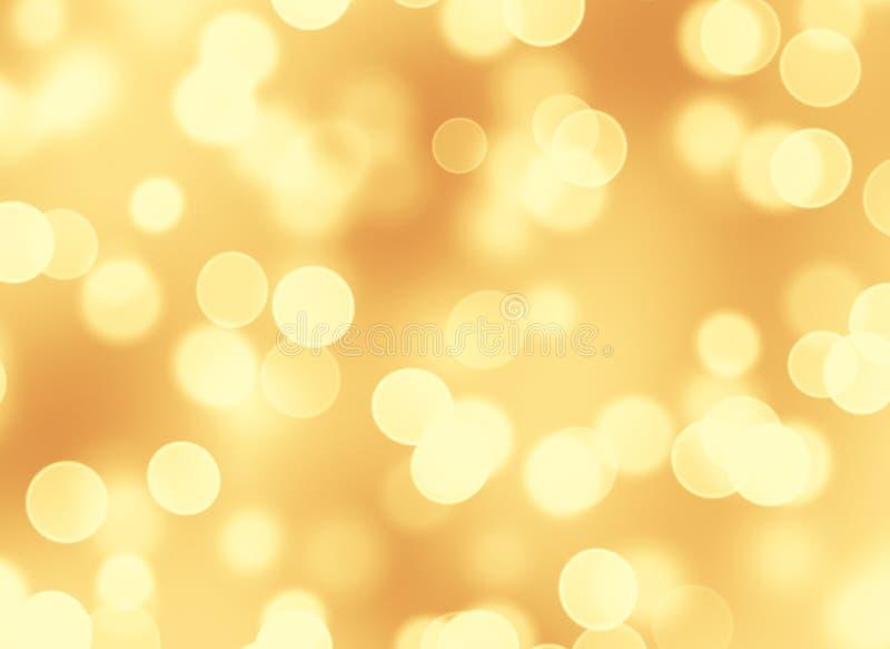 Abstracte gouden bokehachtergrond stock illustratie