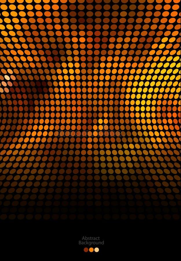 Abstracte gouden en zwarte mozaïekachtergrond vector illustratie