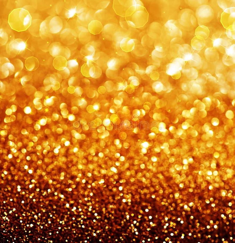 Abstracte Gouden Kerstmisachtergrond royalty-vrije stock fotografie
