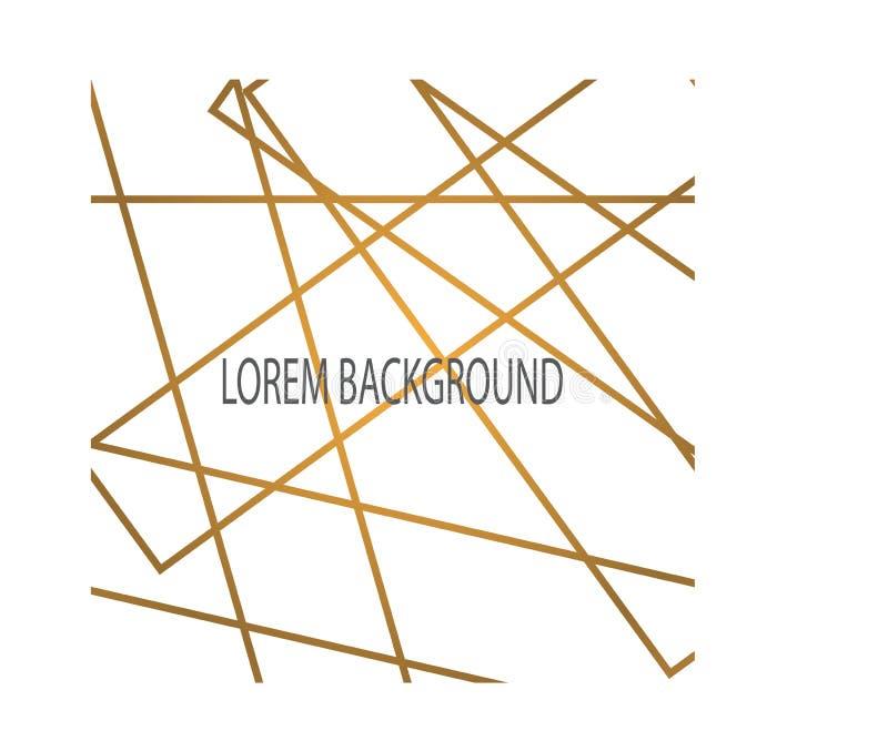 Abstracte gouden lijn met witte achtergrond vector illustratie