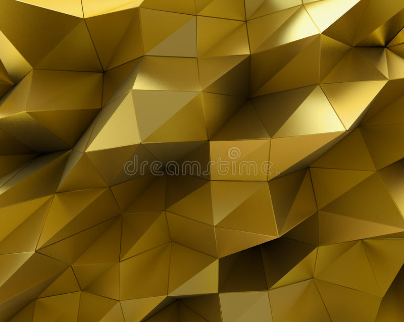 Abstracte gouden oppervlakte Futuristische Achtergrond royalty-vrije illustratie
