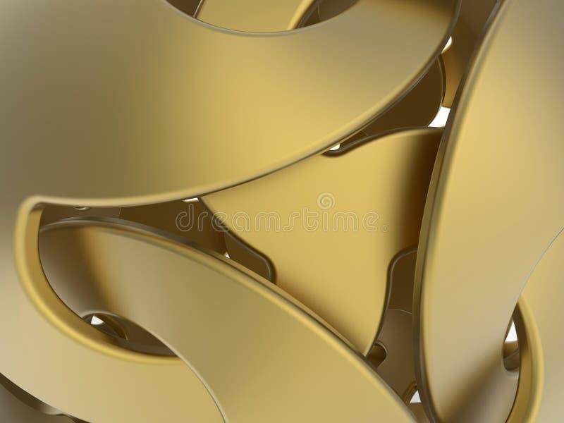 Abstracte gouden oppervlakten royalty-vrije illustratie