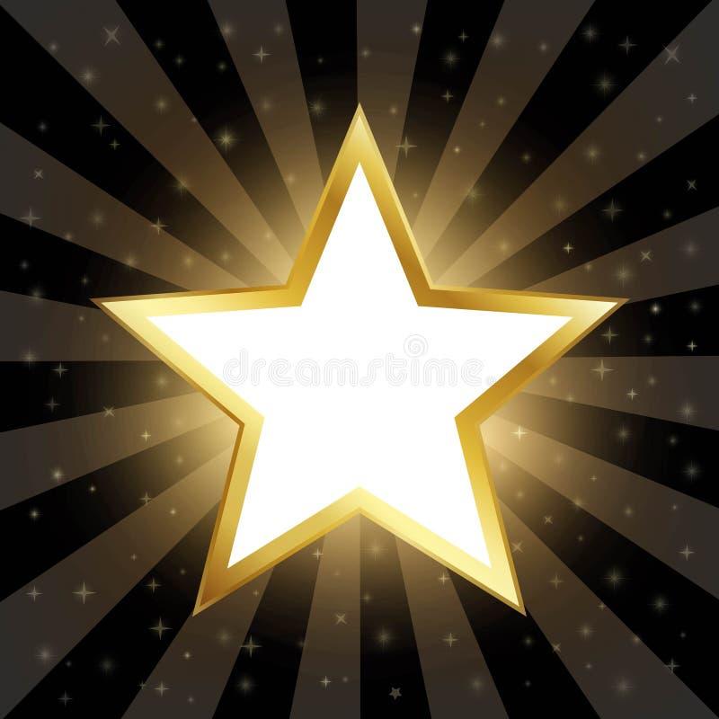 Download Abstracte Gouden Ster Op Donkere Achtergrond Vector Illustratie - Illustratie bestaande uit falling, film: 54088748