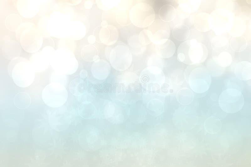 Abstracte gradiënt beige lichte turkooise glanzende vage textuur als achtergrond met cirkelbokehlichten Mooie achtergrond Ruimte  royalty-vrije illustratie