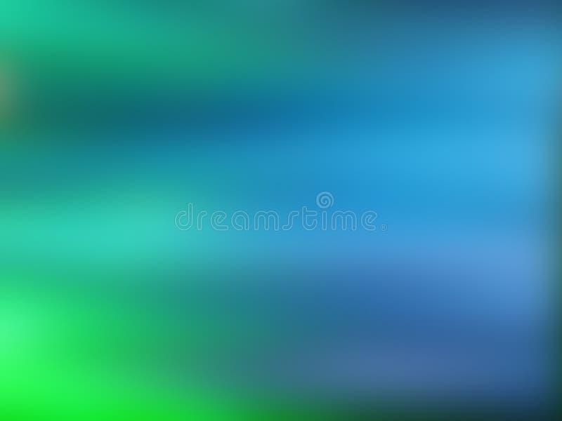 Abstracte gradiëntachtergrond met blauwe en groene kleuren vector illustratie