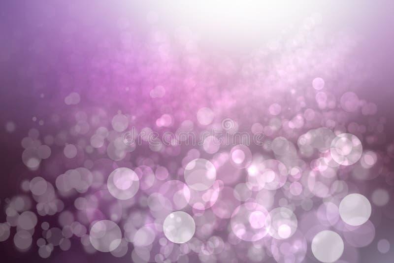 Abstracte gradi?nt purpere roze textuur als achtergrond met vage bokeh cirkels en lichten Ruimte voor ontwerp Mooie achtergrond royalty-vrije stock afbeeldingen