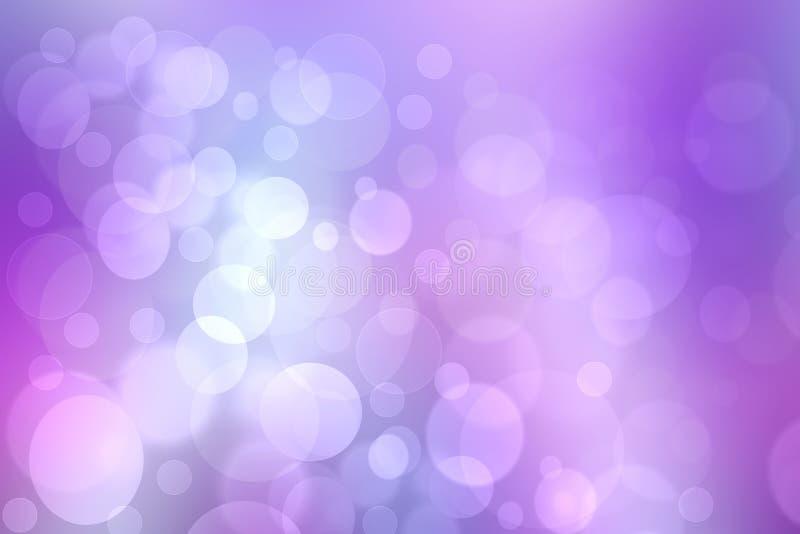 Abstracte gradi?nt purpere roze textuur als achtergrond met vage bokeh cirkels en lichten Ruimte voor ontwerp Mooie achtergrond vector illustratie