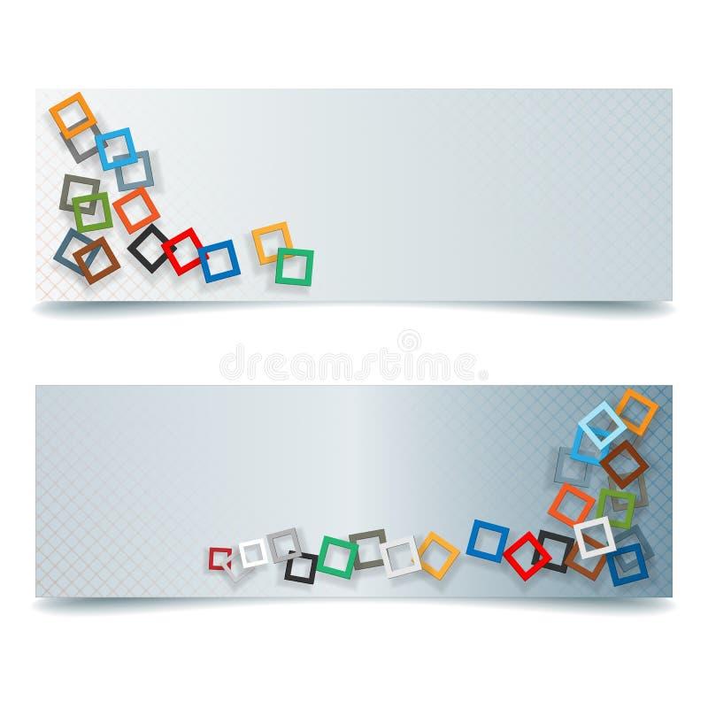 Abstracte grafisch, de banner van het ontwerpweb royalty-vrije illustratie