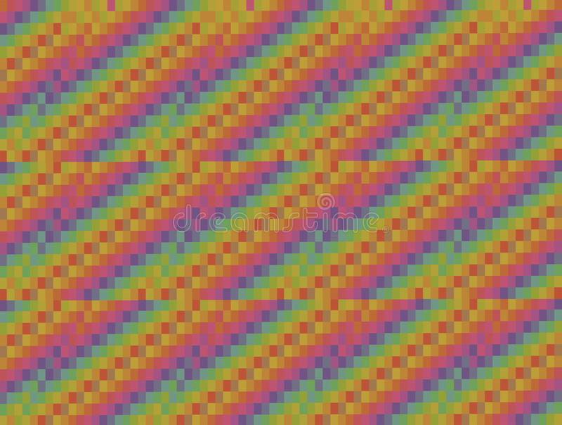 Abstracte grafische gekleurde die vierkanten als achtergrond in diagonale Web van drie stukken worden gestapeld royalty-vrije illustratie