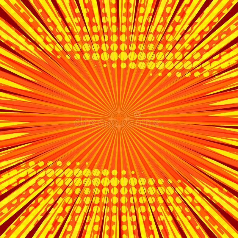 Abstracte grappige oranje achtergrond voor het ontwerp van het stijlpop-art vector illustratie