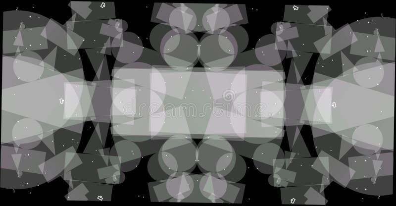 Abstracte grayscale geometrische achtergrond Geometrisch vormen creatief ontwerp met zwarte achtergrond vector illustratie