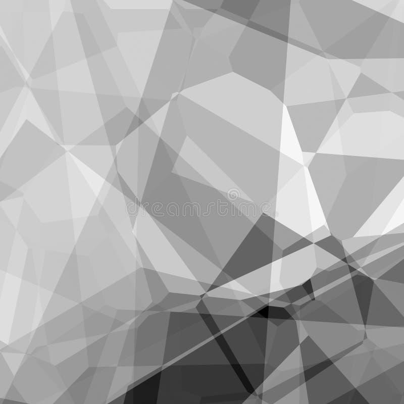 Abstracte grayscaleachtergrond stock illustratie