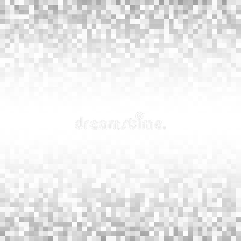 Abstracte grijs pixelated technologie backgroundt Achtergrond van het bedrijfs de lichte pixelpatroon, vierkante document grootte stock illustratie